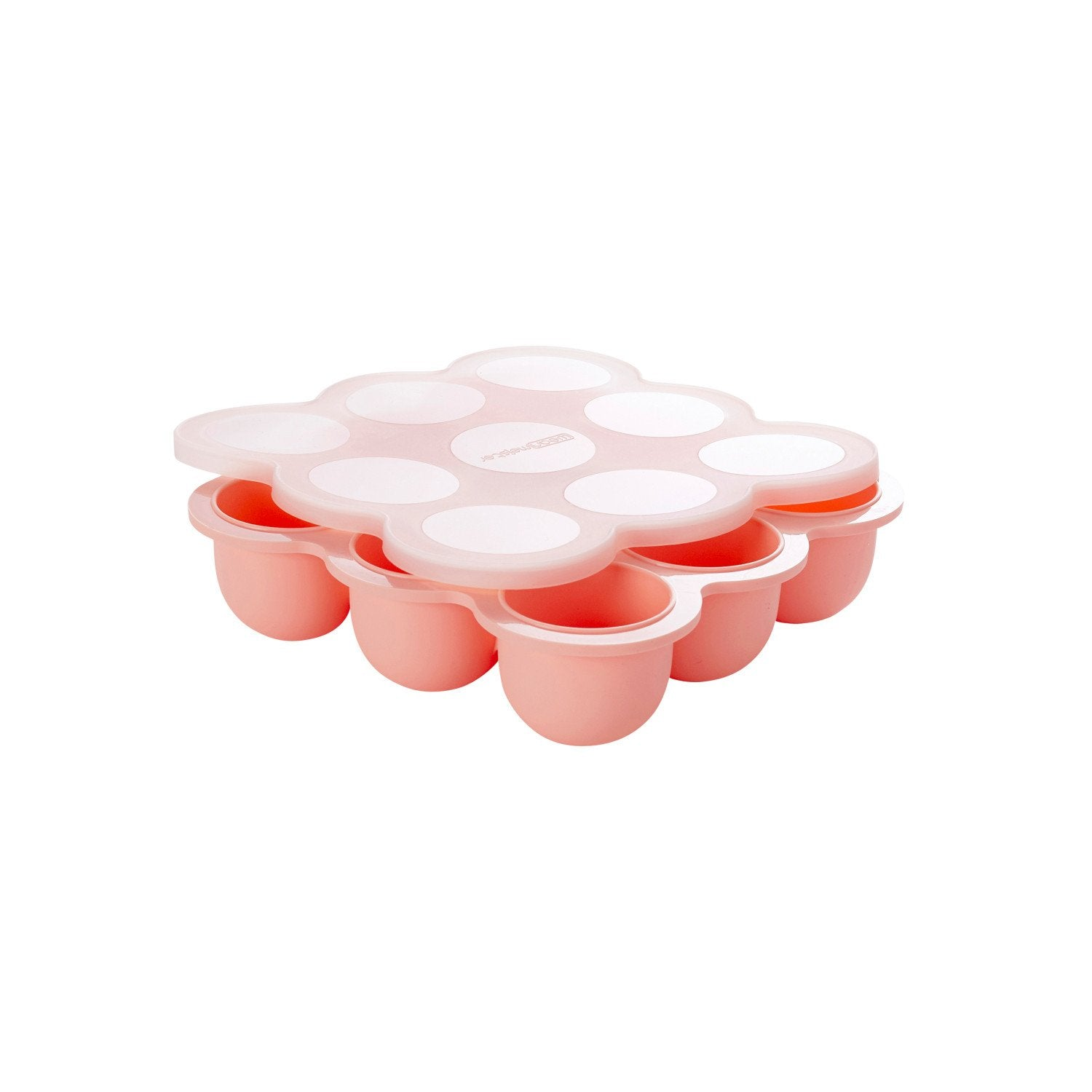 Wean Meister Silicone Baby Food Storage Pods Wean Meister Baby Feeding Peach at Little Earth Nest Eco Shop
