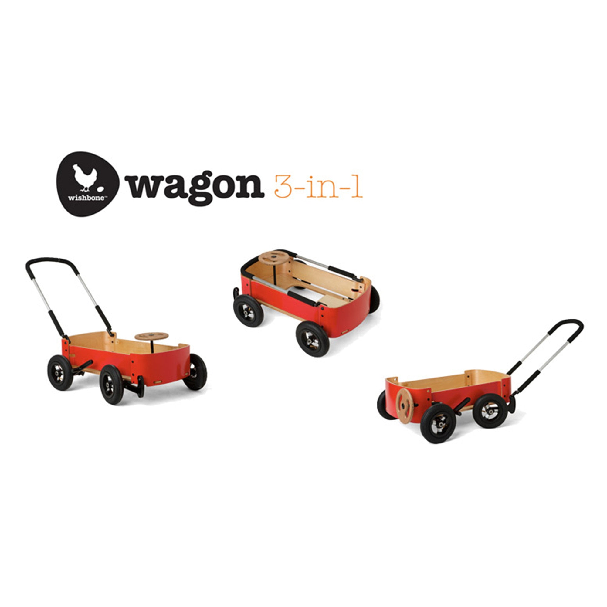 Wishbone Wagon Red Ride On Toys Little Earth Nest