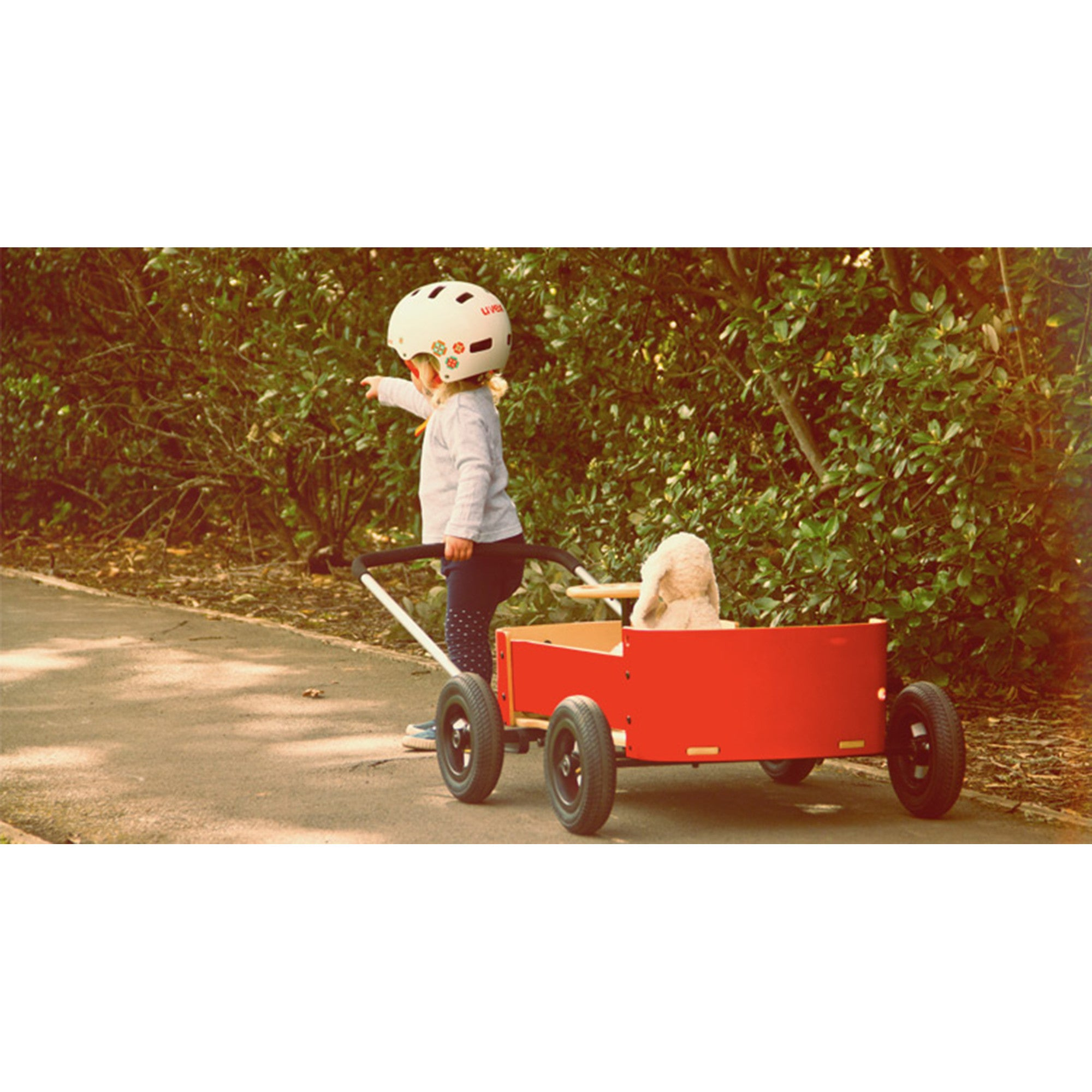 Wishbone Wagon Red Wishbone Australia Kids Riding Vehicles at Little Earth Nest Eco Shop