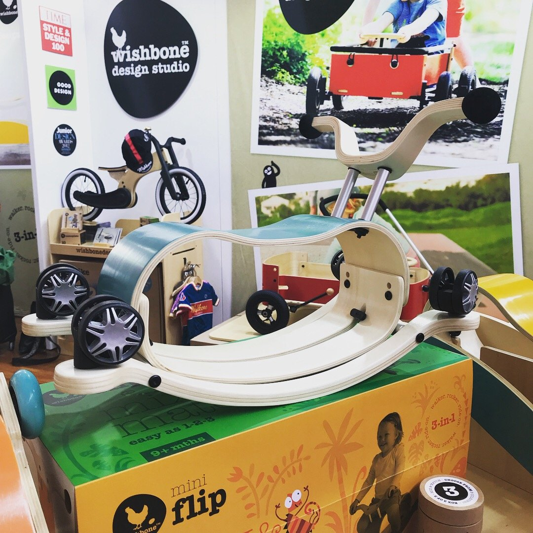 Wishbone Mini Flip with Race Base Wishbone Australia Toys at Little Earth Nest Eco Shop