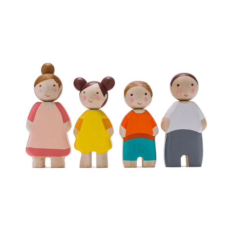 Wooden Doll Family by Tenderleaf Toys Tenderleaf Toys Dolls, Playsets & Toy Figures at Little Earth Nest Eco Shop