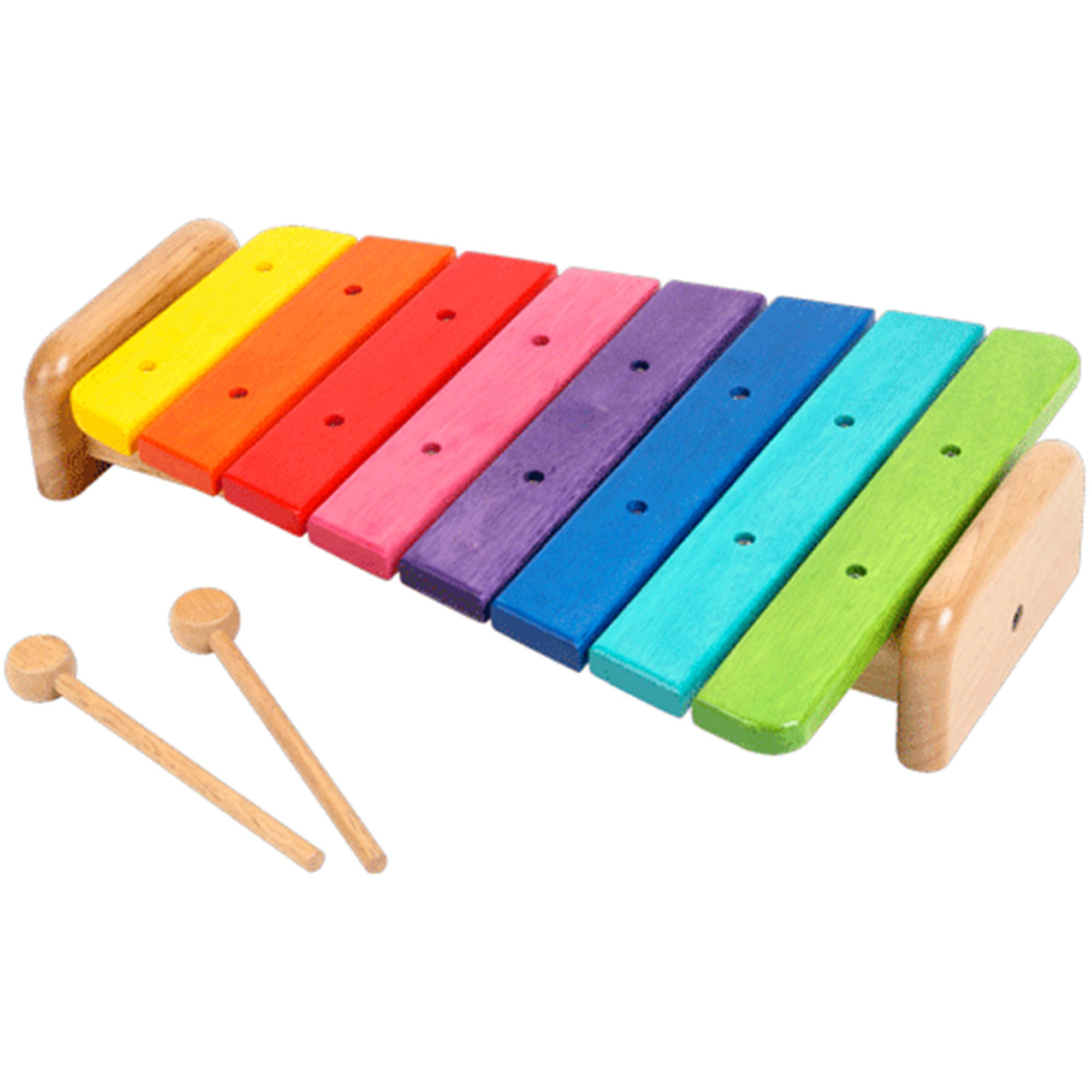 wooden large rainbow xylophone toy