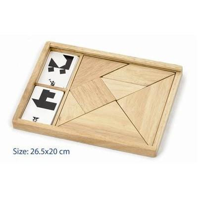 Natural Wooden Tangram   - Little Earth Nest - Little Earth Nest