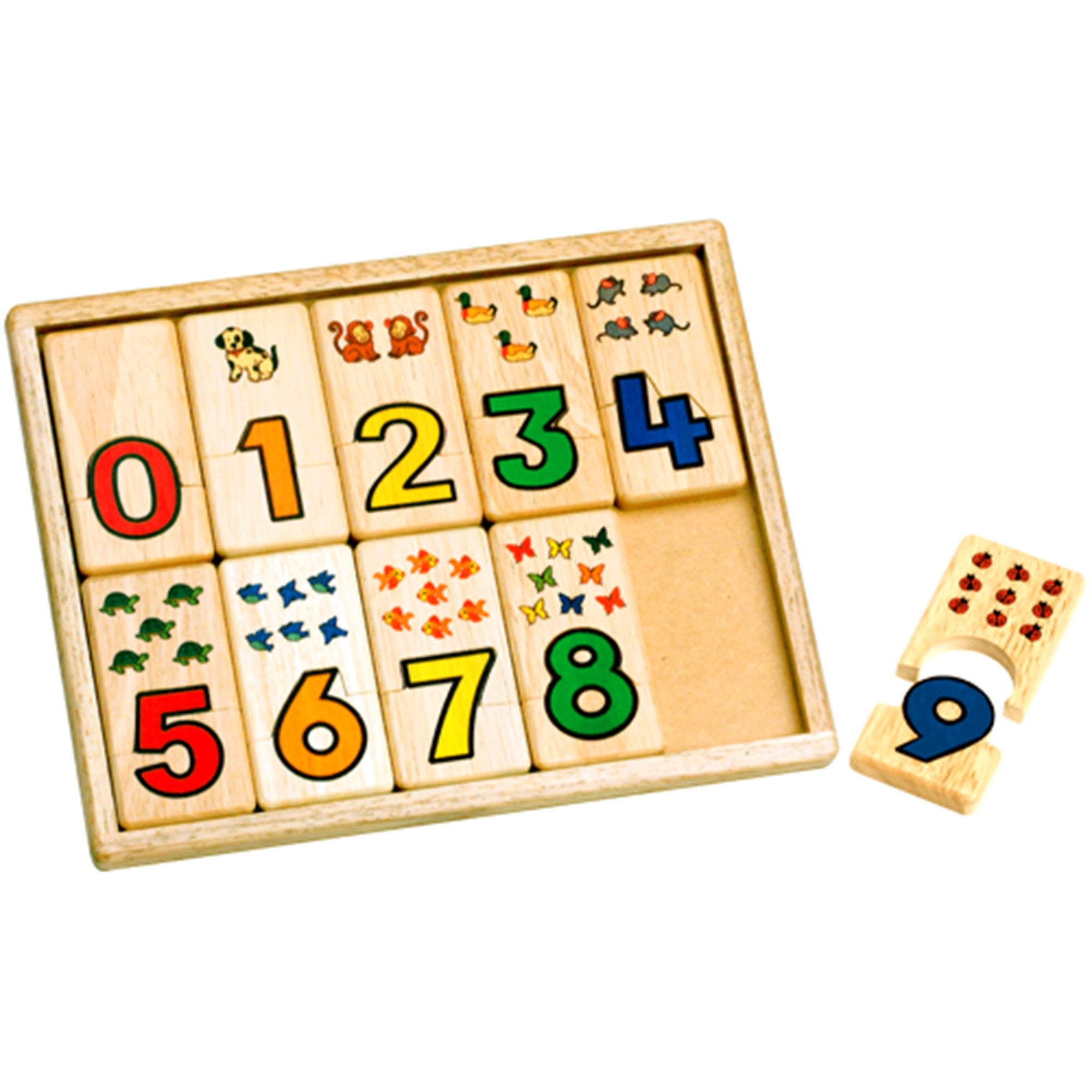 Wooden Number Puzzle Tray Voila Puzzles at Little Earth Nest Eco Shop