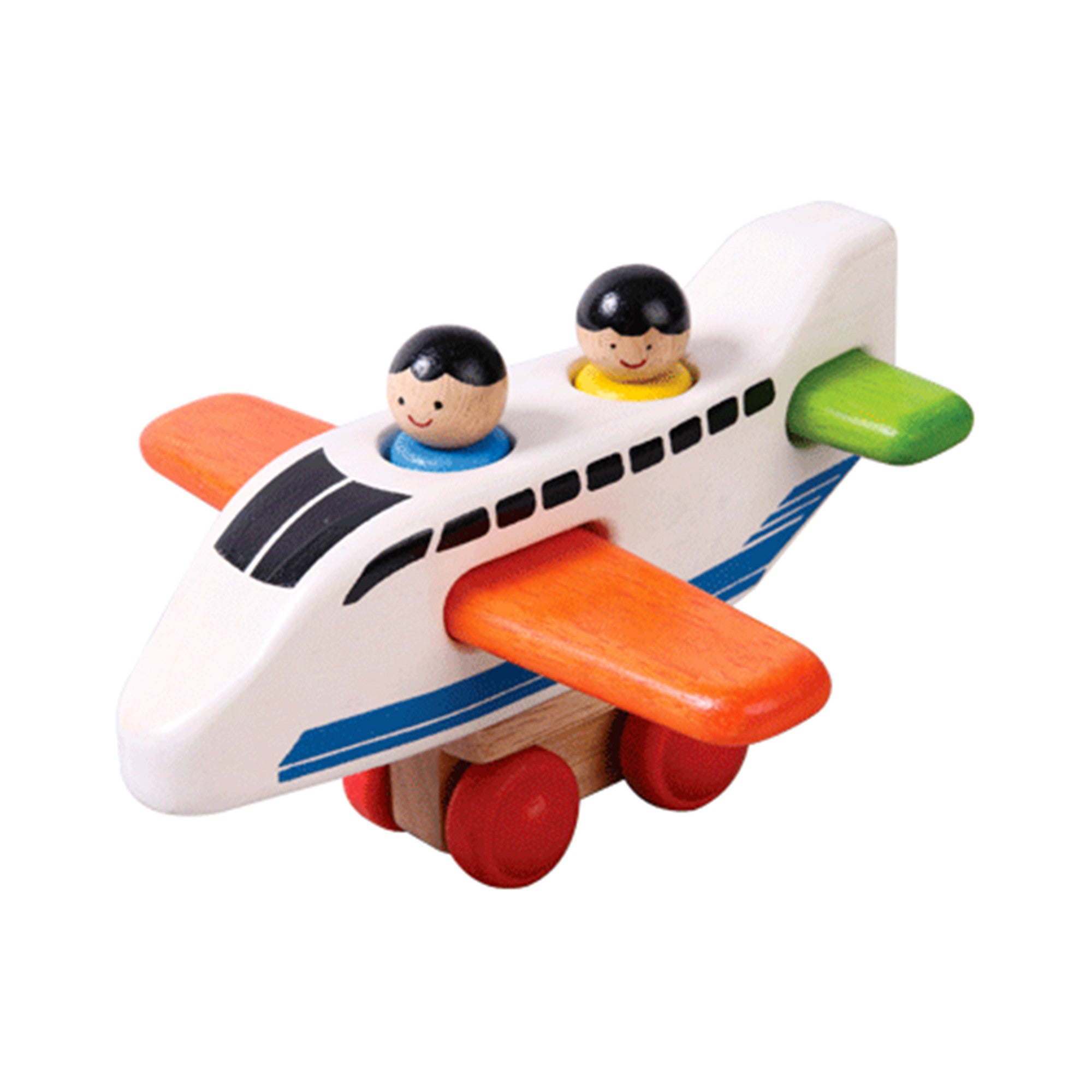 Wooden Plane Vertical Jigsaw Toy Voila Puzzles at Little Earth Nest Eco Shop