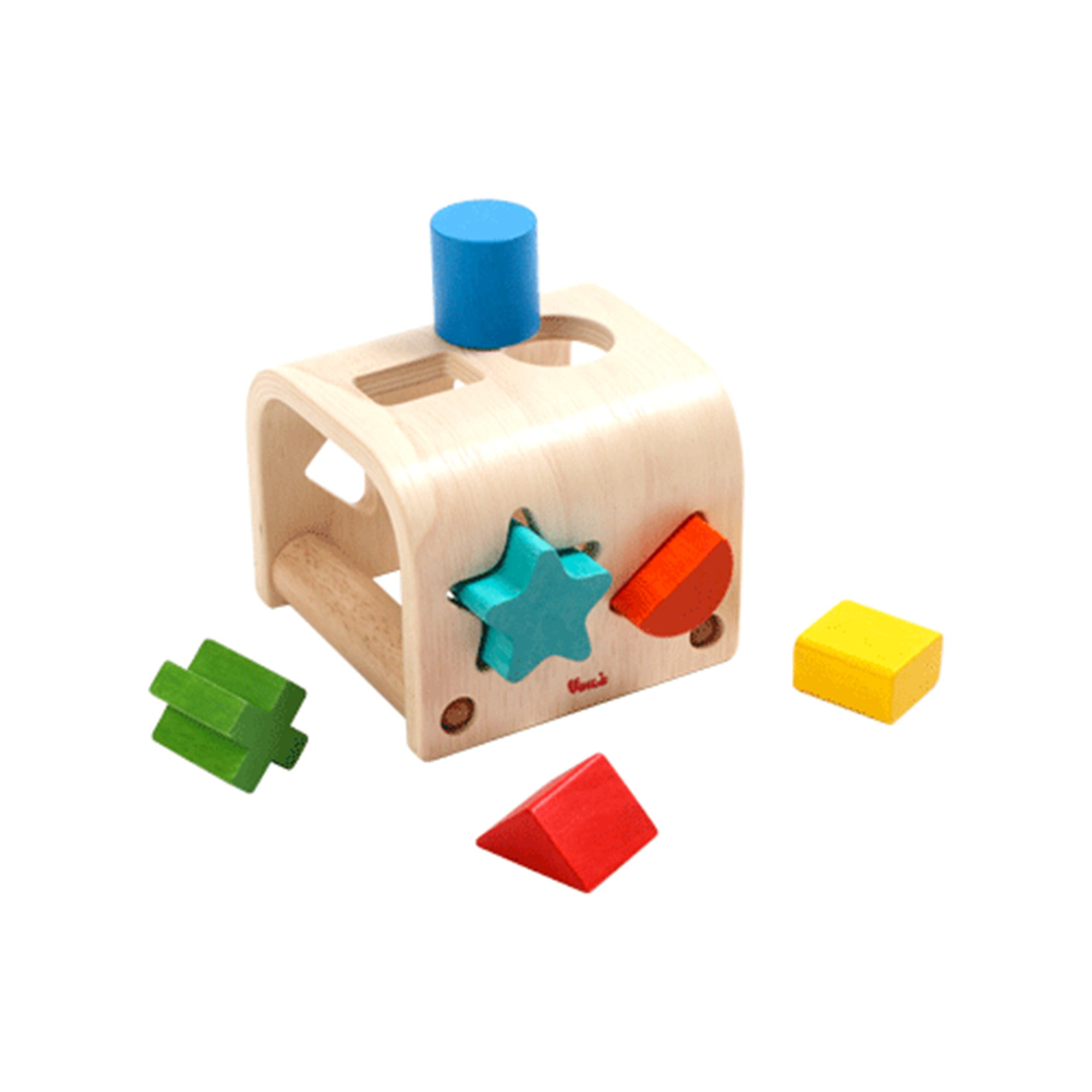 Wooden Shape Sorter Voila Baby Activity Toys at Little Earth Nest Eco Shop