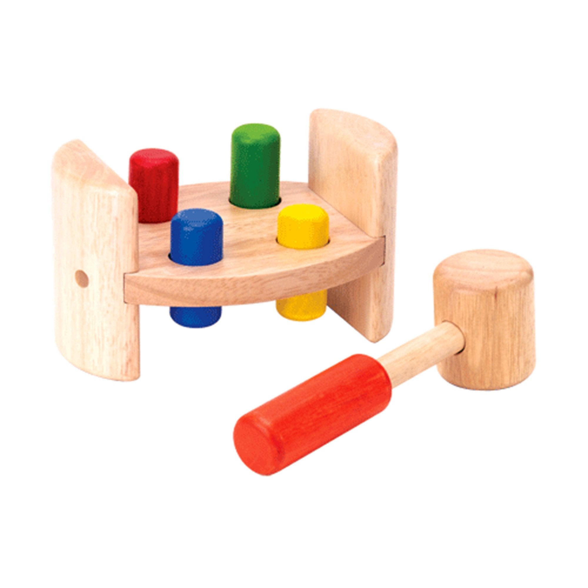 Wooden Toy Hammer and Roll Bench with Mallot Voila Toys at Little Earth Nest Eco Shop