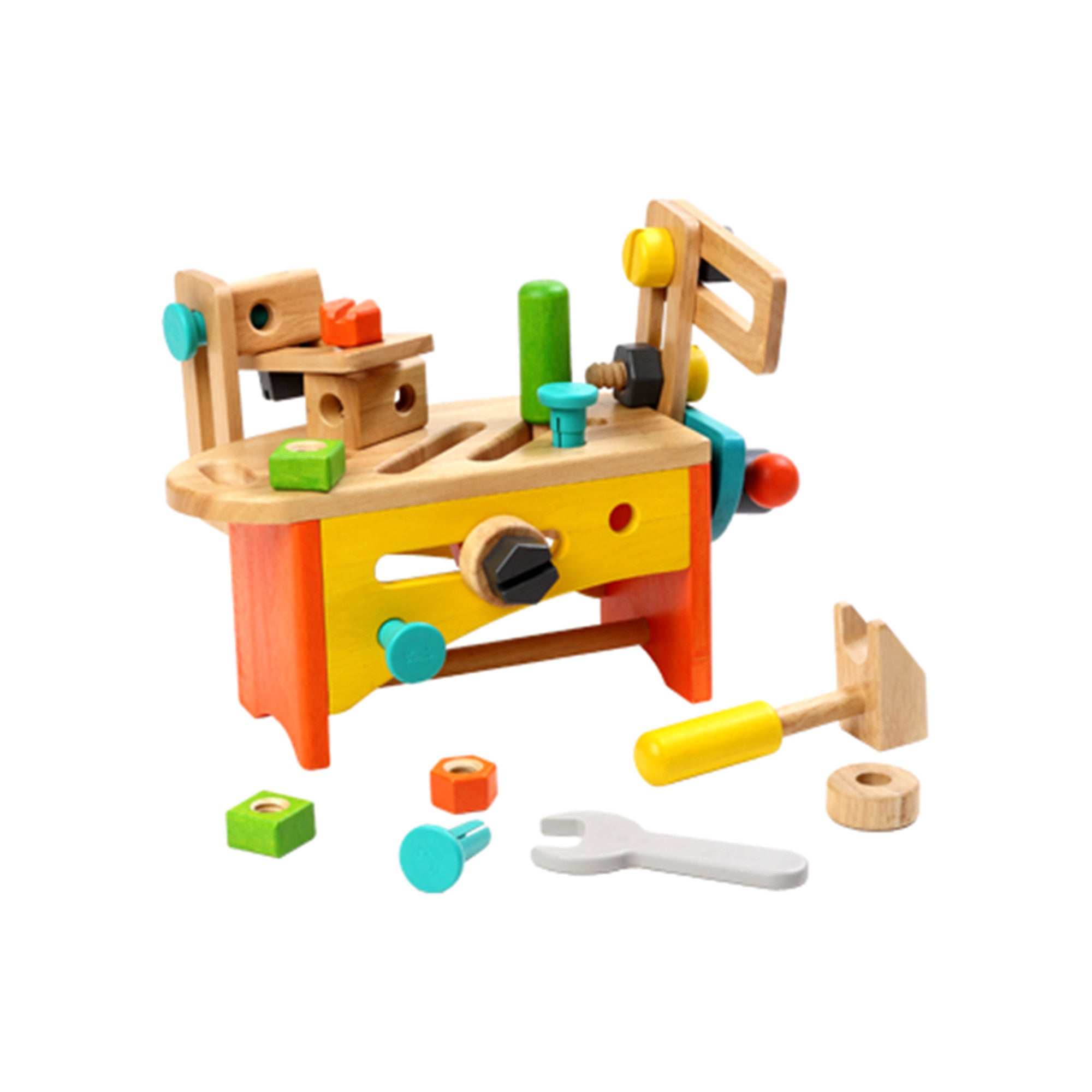 Wooden Toys Product : Wooden toy tool set kit little earth nest