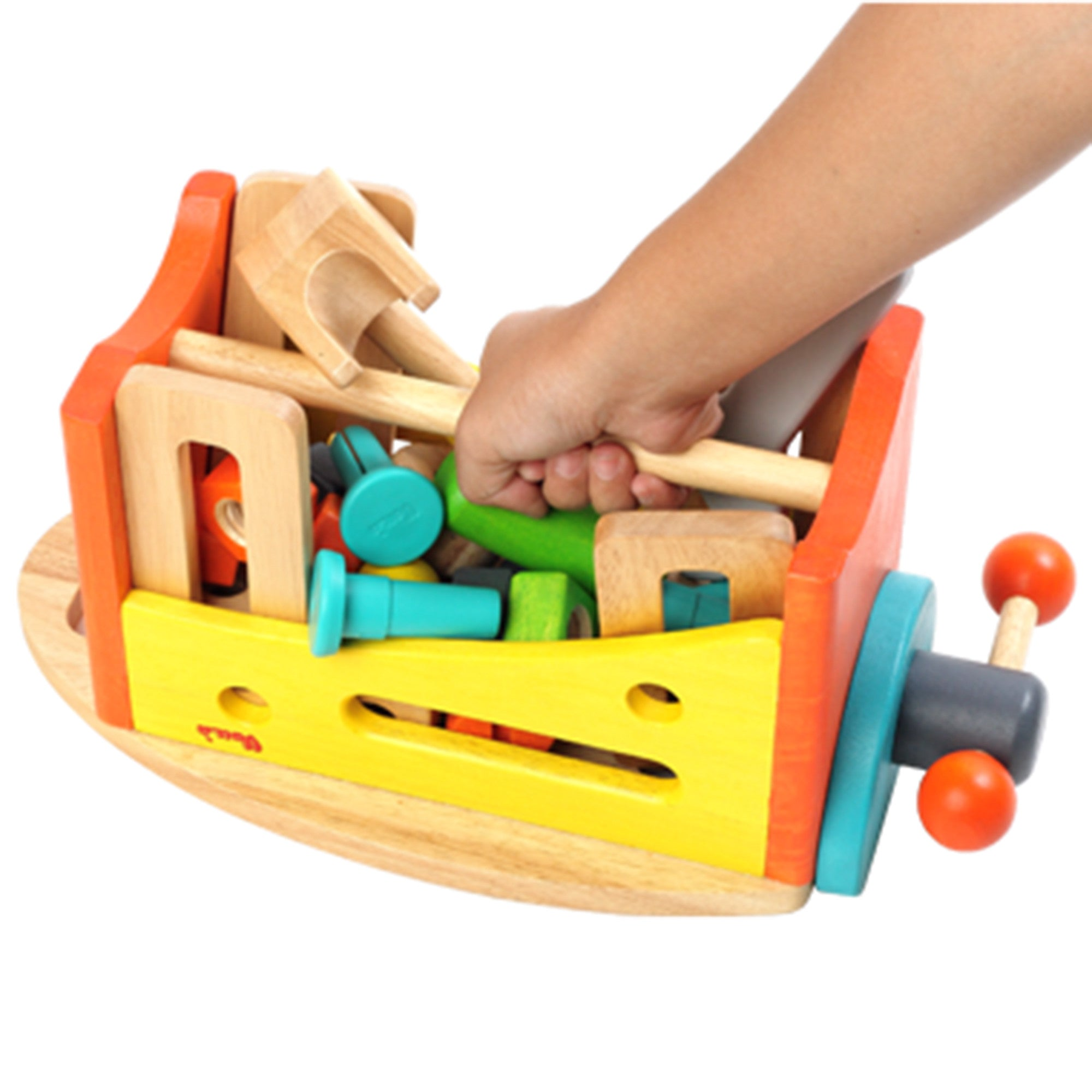 Wooden Toy Tool Set Tool Kit   - Voila - Little Earth Nest - 2