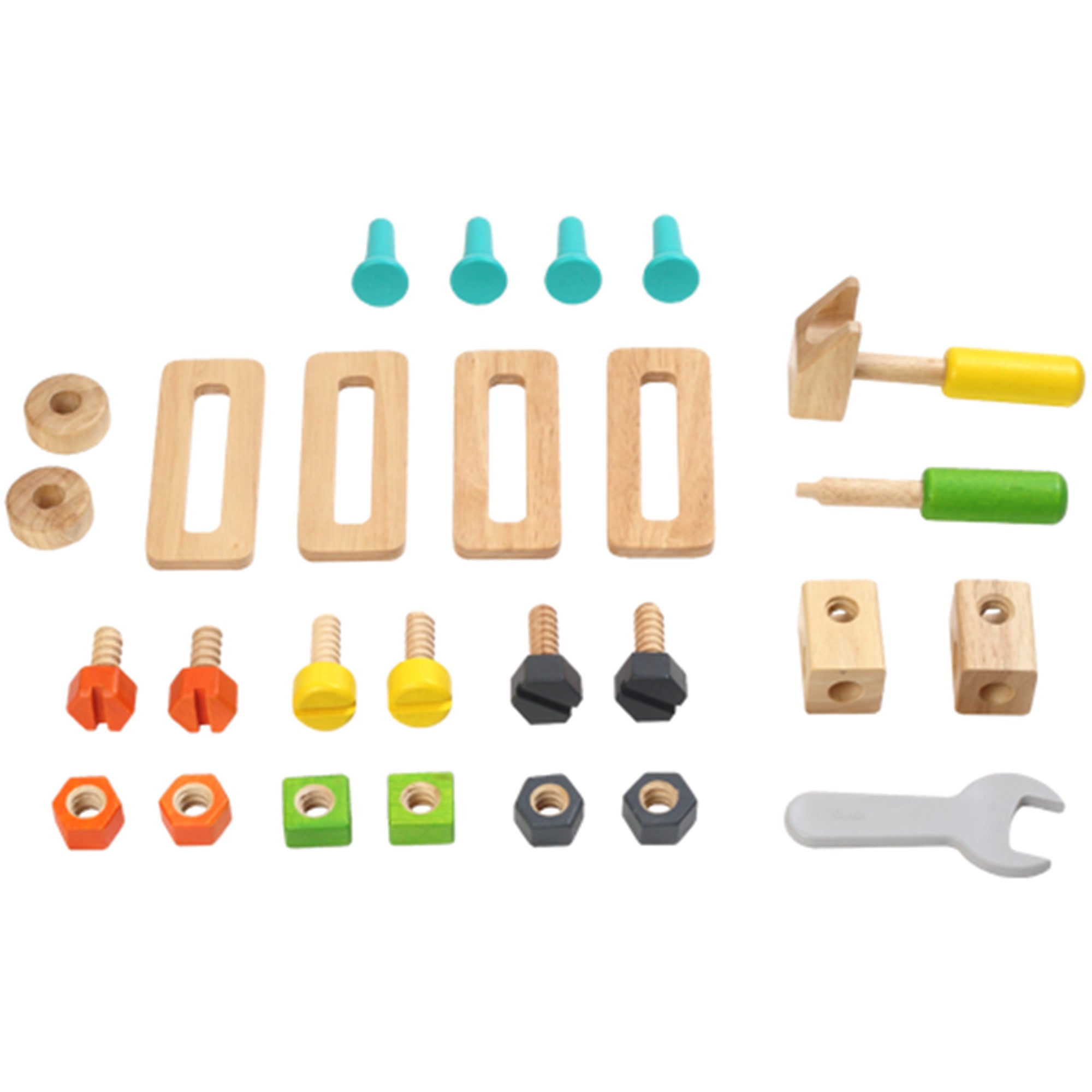 Wooden Toy Tool Set Tool Kit   - Voila - Little Earth Nest - 7