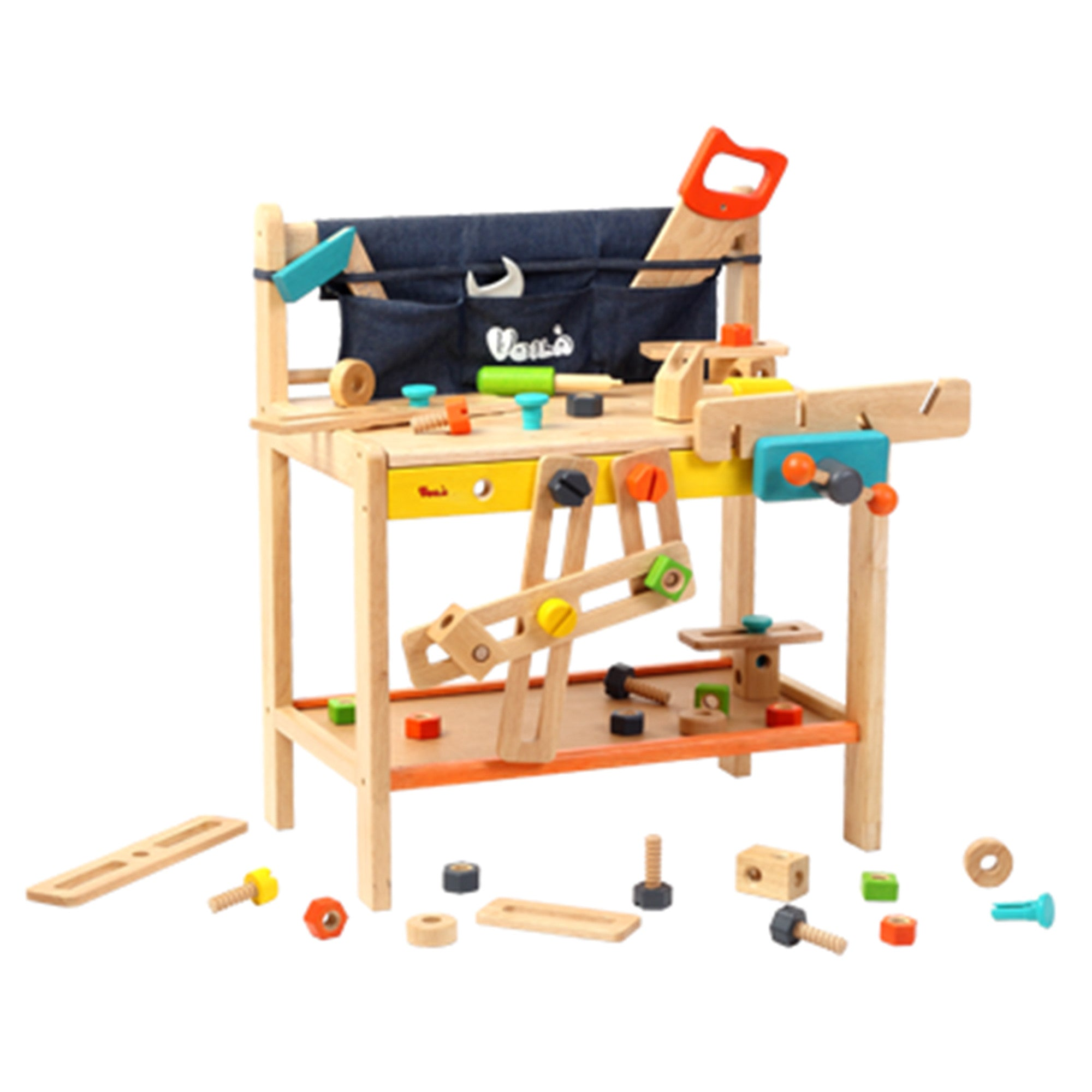 Wooden Toy Workbench set Voila Toy Tools at Little Earth Nest Eco Shop