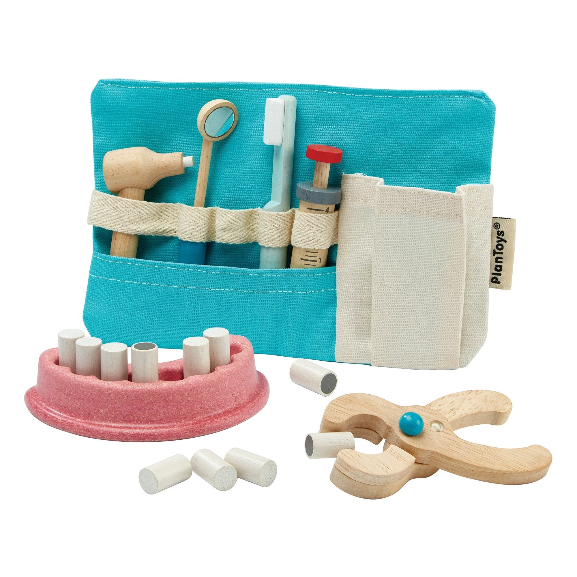 Plan Toys Wooden Dentist Set PlanToys Pretend Play at Little Earth Nest Eco Shop