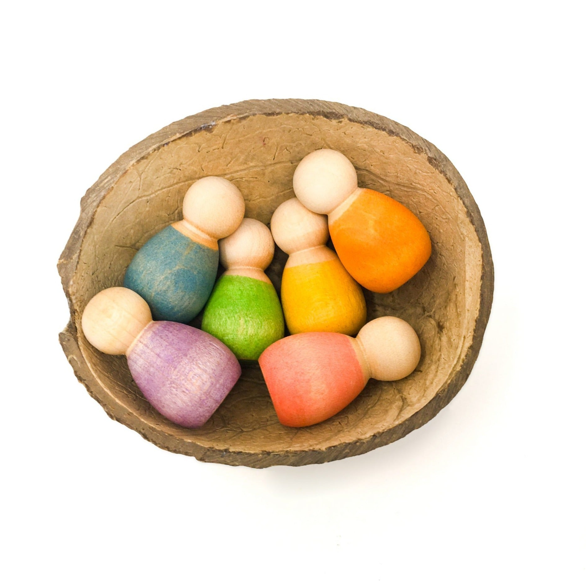 Grapat Wooden Baby Nins Set of 6 Grapat Activity Toys at Little Earth Nest Eco Shop