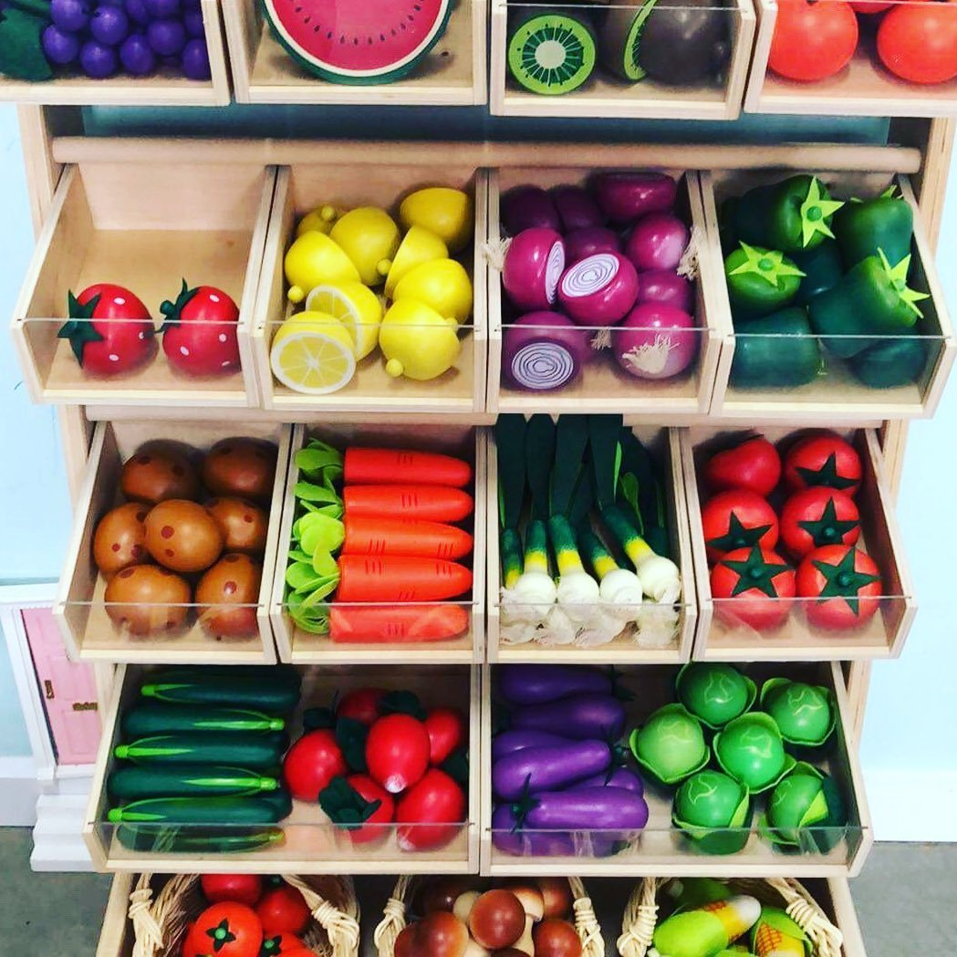 Wooden Play Vegetables Little Earth Nest Toy Kitchens & Play Food at Little Earth Nest Eco Shop