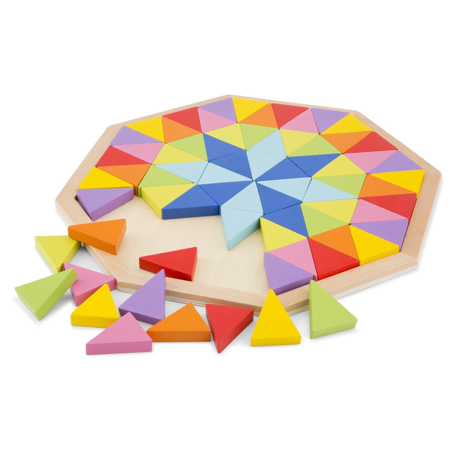 New Classic Toys Rainbow Wooden Octagon Puzzle New Classic Toys Puzzles at Little Earth Nest Eco Shop