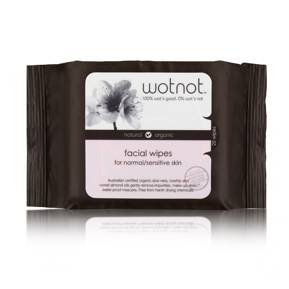 Wotnot Facial Wipes Natural Makeup Removers 25 Wipes Wotnot General at Little Earth Nest Eco Shop