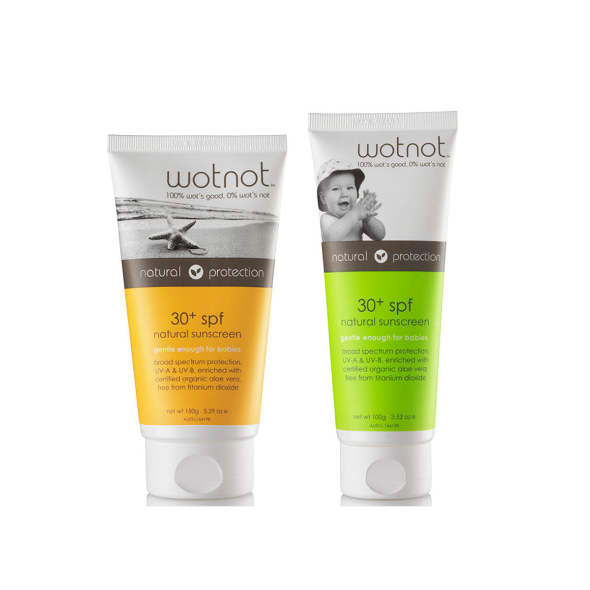 Wotnot Natural Sunscreen SPF 30+ Wotnot Sunscreen at Little Earth Nest Eco Shop