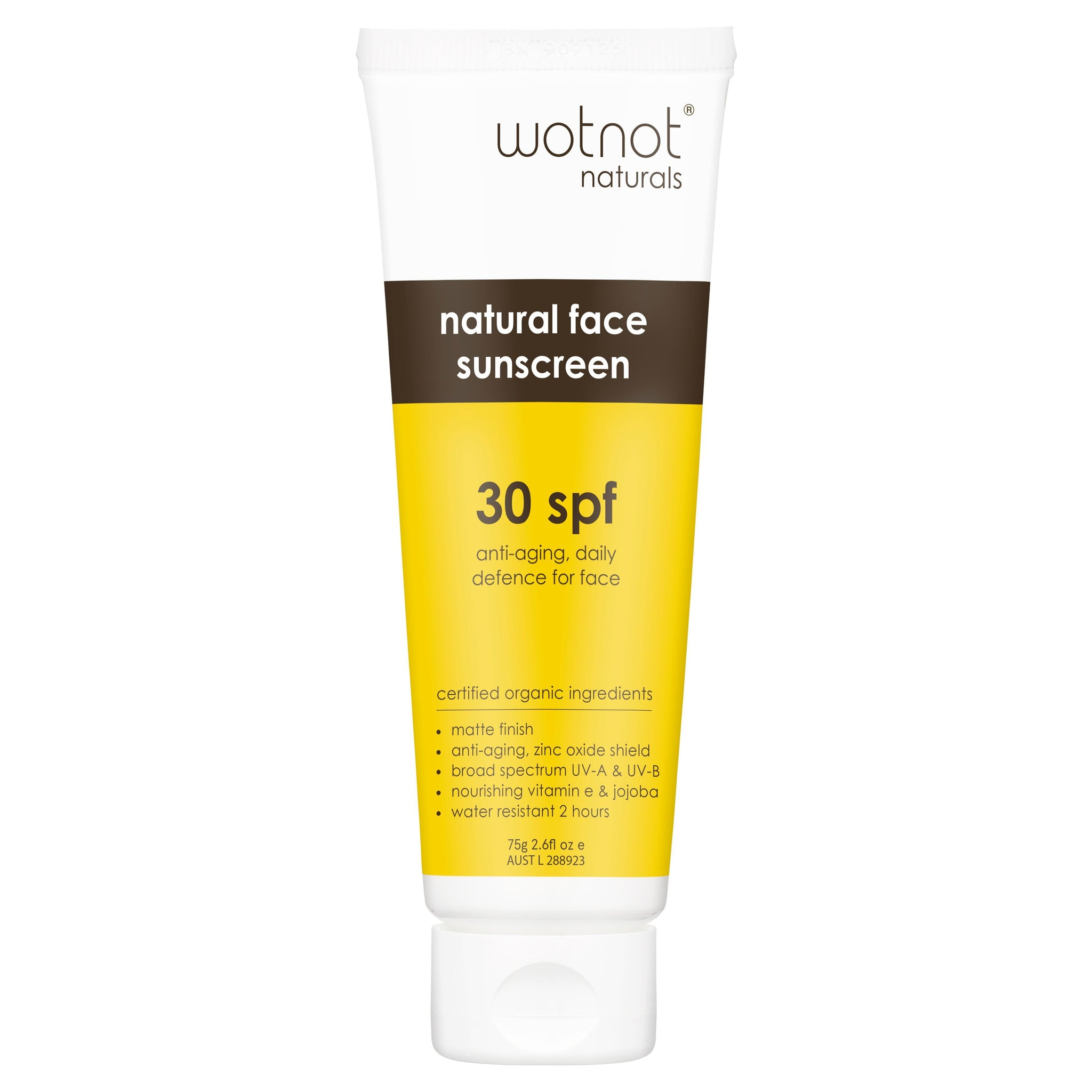 Wotnot Anti-aging Face Sunscreen Spf 30+  75g Wotnot Sunscreen at Little Earth Nest Eco Shop
