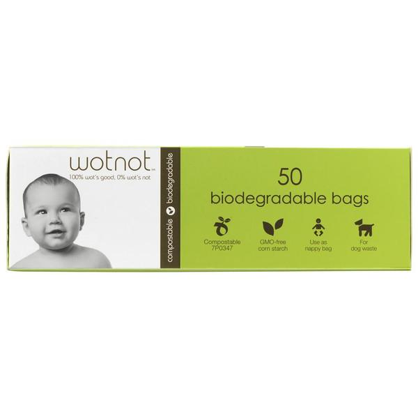 Wotnot Biodegradable Nappy Bags Wotnot Baby Bathing at Little Earth Nest Eco Shop