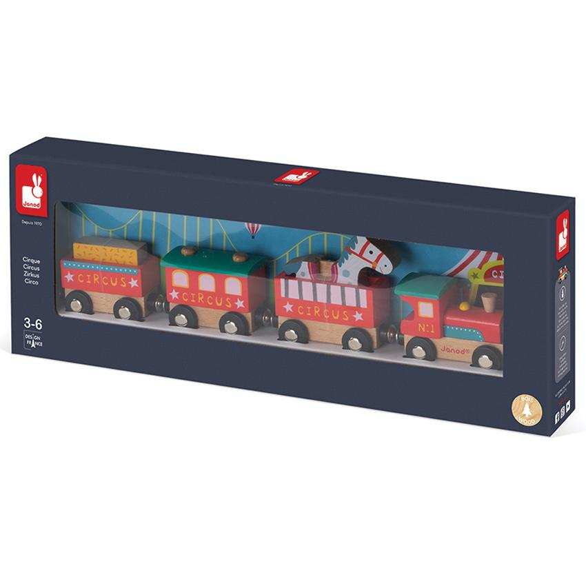 Janod Circus Train Janod Activity Toys at Little Earth Nest Eco Shop