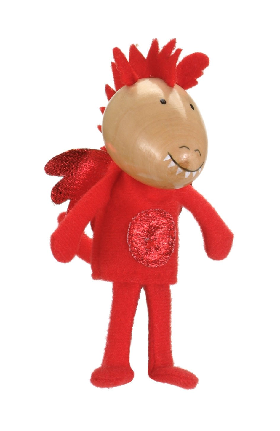 Boutique Finger Puppets Fiesta Crafts Toys Red Dragon at Little Earth Nest Eco Shop