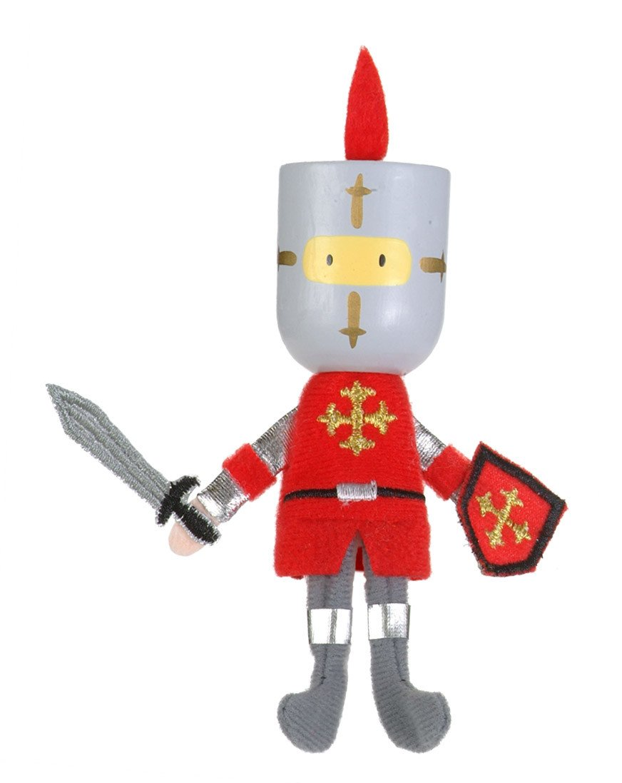 Boutique Finger Puppets Fiesta Crafts Toys Red Knight at Little Earth Nest Eco Shop