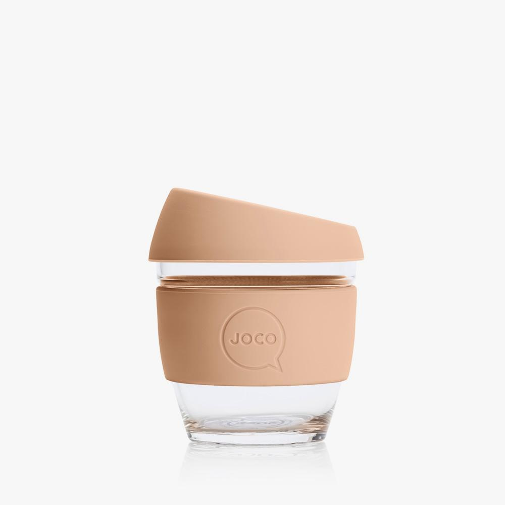 Joco Reusable Glass Cup 4oz Joco Coffee & Tea Cups Amber Light at Little Earth Nest Eco Shop