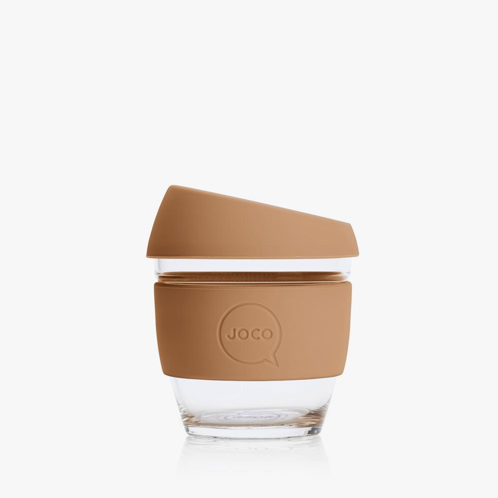 Joco Reusable Glass Cup 4oz Joco Coffee & Tea Cups Butterum at Little Earth Nest Eco Shop