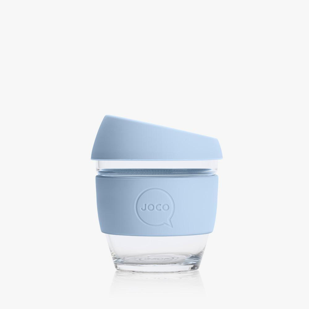 Joco Reusable Glass Cup 4oz Joco Coffee & Tea Cups Vintage Blue at Little Earth Nest Eco Shop