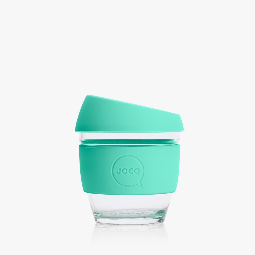 Joco Reusable Glass Cup 4oz Joco Coffee & Tea Cups Vintage Green at Little Earth Nest Eco Shop