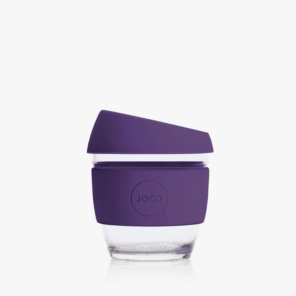 Joco Reusable Glass Cup 4oz Joco Coffee & Tea Cups Violet at Little Earth Nest Eco Shop