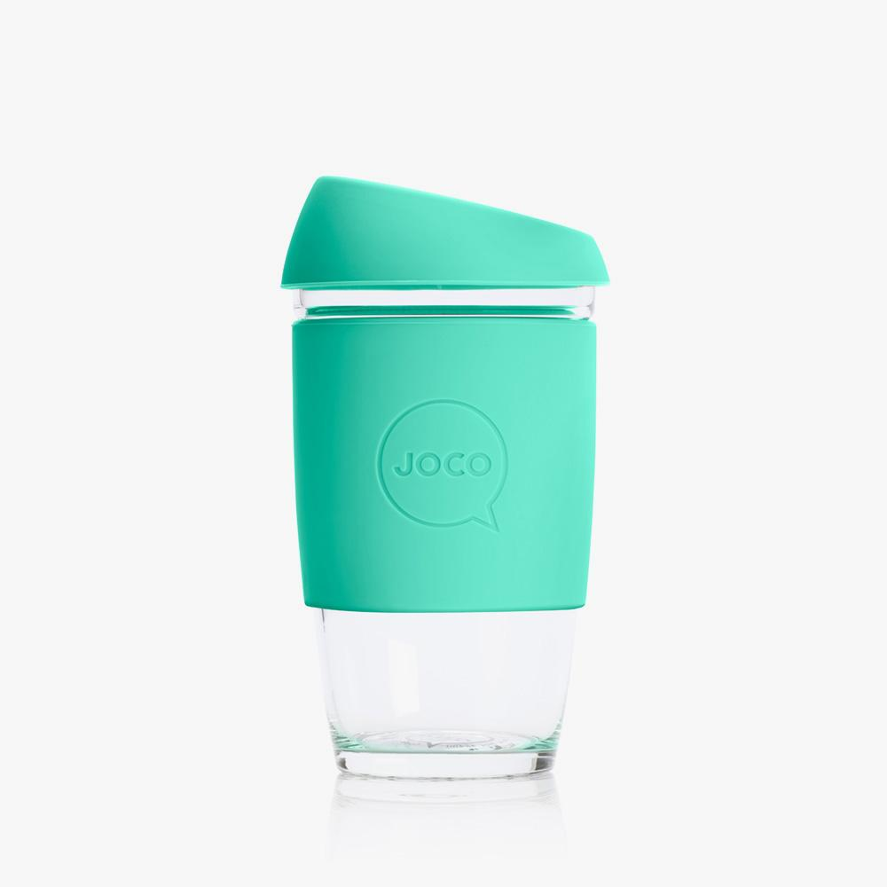 Joco Reusable Glass Cup 6oz Joco Coffee & Tea Cups Vintage Green at Little Earth Nest Eco Shop