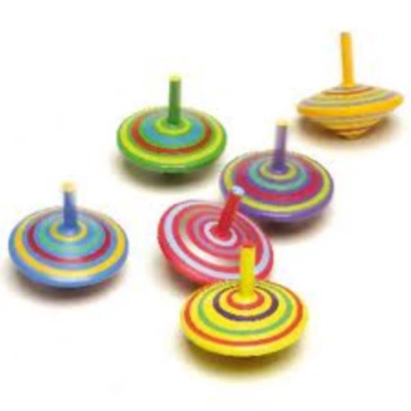 Striped Wooden Spinning Top   - Fun Factory - Little Earth Nest