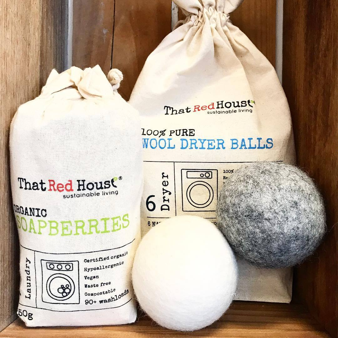 That Red House Wool Dryer Balls That Red House Household Cleaning Supplies at Little Earth Nest Eco Shop