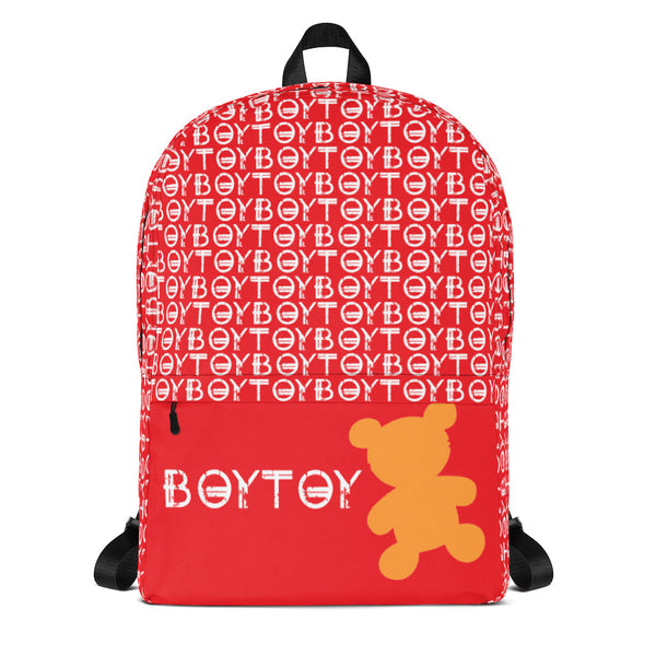 Boy Toy (Red) - Backpack - Shop Naughty AlwaysGay Clothing, Bags & Accessories
