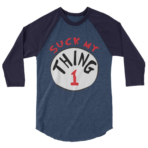Thing 1 - Raglan - Shop Naughty AlwaysGay Clothing, Bags & Accessories