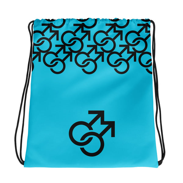 Male (Blue) - Drawstring Bag - Shop Naughty AlwaysGay Clothing, Bags & Accessories