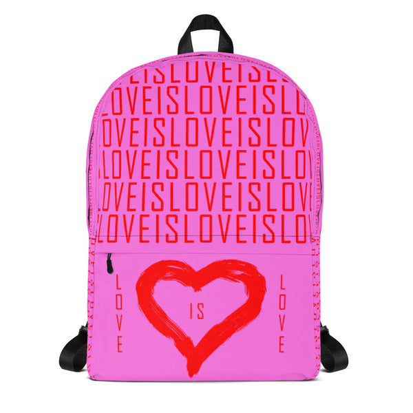 Love (Pink) - Backpack - Shop Naughty AlwaysGay Clothing, Bags & Accessories