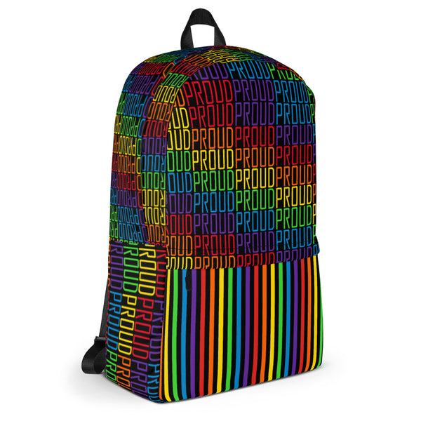 Proud (Black) - Backpack - Shop Naughty AlwaysGay Clothing, Bags & Accessories
