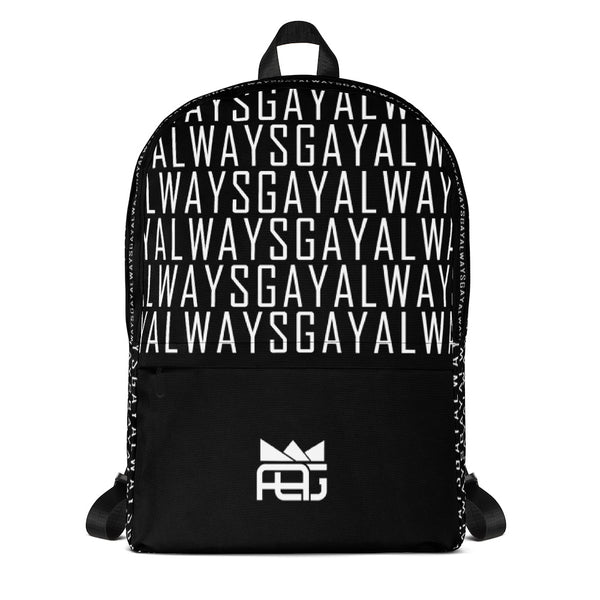 AlwaysGay - Backpack - Shop Naughty AlwaysGay Clothing, Bags & Accessories