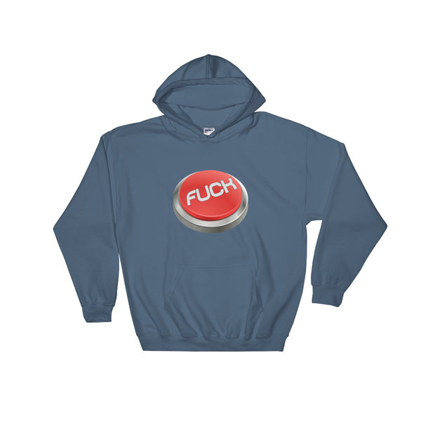 Fuck Button - Hooded Sweatshirt - Shop Naughty AlwaysGay Clothing, Bags & Accessories