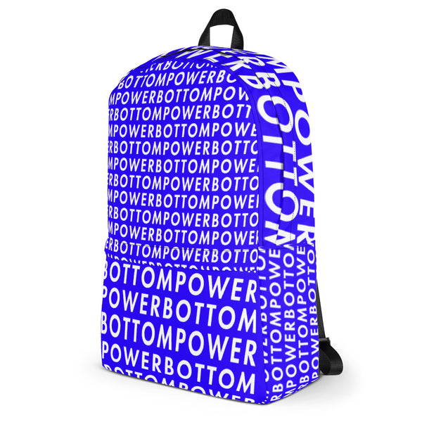 Power Bottom (Blue) - Backpack - Shop Naughty AlwaysGay Clothing, Bags & Accessories