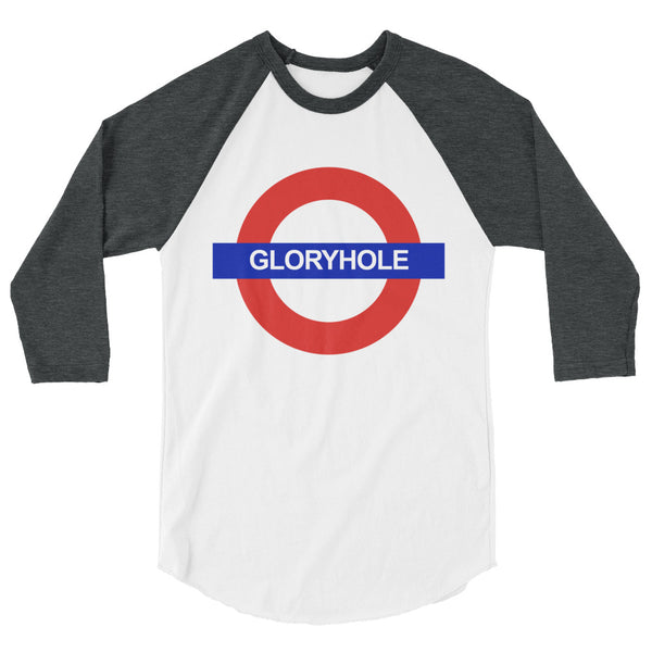 Glory Hole - Raglan - Shop Naughty AlwaysGay Clothing, Bags & Accessories