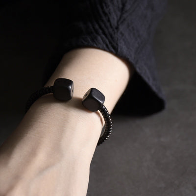Adjustable Ebony Bracelet