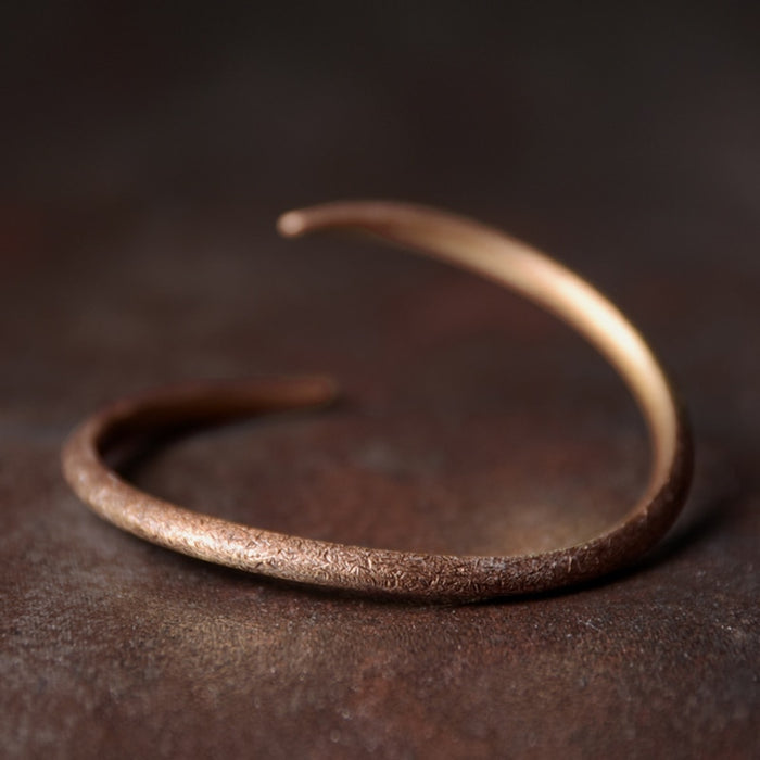 Smooth Cuff Copper Bracelet