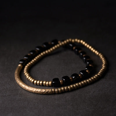 Black Onyx Multilayer Bracelet