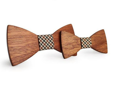 Casamento - father & son Wooden Bow tie -offthewood