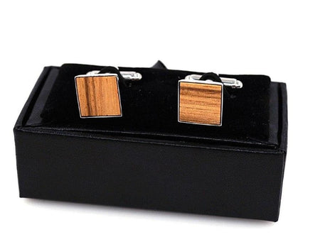 Cufflinks for Men - Beech Wood -offthewood