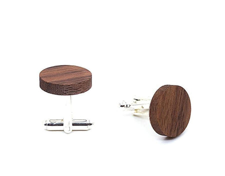 Round Wood Cufflinks - OAK -offthewood