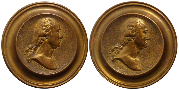 George Washington Set Of Federal Era Two Drawer Pulls (1795-1810).